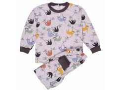 Пижама Татошка 01602лмр интерлок серая с лемурами 98
