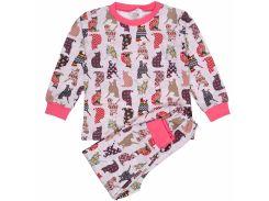 Пижама Татошка 01602кшк интерлок с котами 92