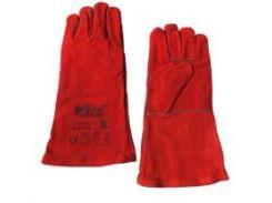 Перчатки замшевые краги WERK WE2128 красные, р. 11 (70320)