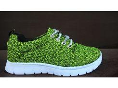 Кроссовки зеленые 2501c PROGRES 36-40 (Пара)