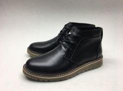Ботинки кожаные черные I111 40-45 (Пара)