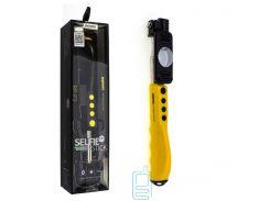 Монопод селфи палка Remax RP-P2 желтый