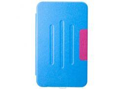 Чехол-книжка для ASUS MeMO Pad 8 ME181 пластиковая накладка Folio Cover Голубой