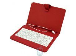 Чехол-клавиатура 9 дюймов microUSB Красный