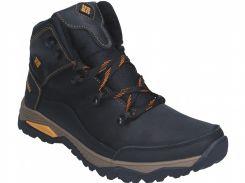 Ботинки кожаные черные K14d 40-45 (Цена за 1 пару при заказе от упаковки 6 пар)