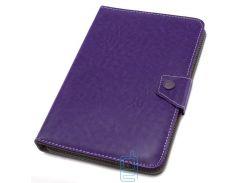 Чехол-книжка 9 дюймов уголки-магнит NEW Фиолетовый