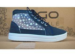Кеды текстильные синие Звезда белая 55/2 DAGO 37-40 (Пара)
