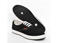 Кеды текстильные черные VM910a GIPANIS 41-45 (Цена за 1 пару при заказе от упаковки 10 пар)