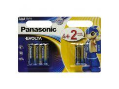 Panasonic БатарейкаEvolta AAA/LR03 BL 4+2 шт