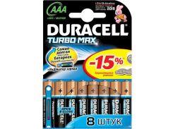Duracell Батарейка Turbo Max AAA/LR03 BL 8шт