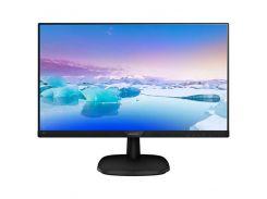 "Philips Монитор 23.8"" 243V7QDAB/00 IPS Black; 1920x1080, 250 кд/м2, 5 мс, DVI-D, D-Sub, HDMI, динамики 2х2Вт"