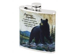 Фляга American expedition Black bear 6 oz (180 мл)