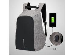 Рюкзак городской против кражи Antithief (Антивор) gray