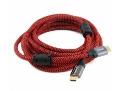 Extradigital HDMI to HDMI, 5m, v2.0, 28 AWG, Gold, Nylon, 2xFerrites
