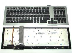 Клавиатура для ноутбука ASUS G75 G75V G75VW G75VX ( RU Black с серой рамкой и подсветкой клавиш). Оригинальная клавиатура. Русская раскладка.