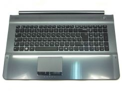 Клавиатура для ноутбука Samsung RC710, RC711 ( RU Black с крышкой корпуса ). Оригинальная клавиатура. Русская раскладка.
