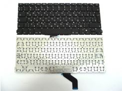"""Клавиатура для ноутбука APPLE Macbook Pro A1425 A1502 (2012) Retina 13"""" RU BLACK (Вертикальный Enter). Оригинальная новая."""