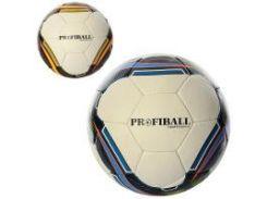 Мяч футбольный 4-х слойный кожа PU Profi (2500-18AB)