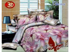 Комплект постельно белья TAG Офелия с компаньоном Ранфорс Двуспальный Евро