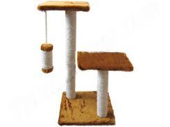 СИЗАЛЬ Когтеточка для кошек ДРП Альфа 2 столба, 2 лежака 38*38*70 (коричневая)