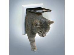 Trixie (Трикси) Дверь для кошки, пластик 2 позиции 21*21см глубина 13мм
