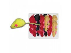 UniZoo (УНИ) Игрушка для кошек мышь цветная 5см