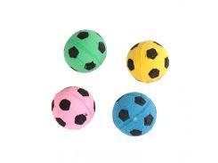 UniZoo (УНИ) Игрушка для кошек мяч зефирный футбольный одноцветный 4,5см