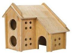 Домик для грызунов Коттедж, два этажа 19*19*23