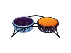 Trixie (Трикси) Миски керамические для кошек на подставке 300мл*12см