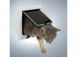 Trixie (Трикси) Дверь для кошки пластик, 4 позиции 21*21см глубина 13мм