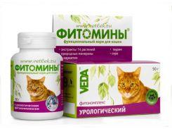 Фитомины с урологическим фитокомплексом для кошек 100таб