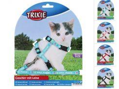 Trixie (Трикси) Шлейка с поводком для котят, нейлон 21-34см 8мм