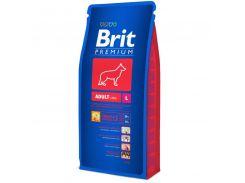 Brit (Брит) Полнорационный корм для взрослых собак крупных пород от 25кг Brit Premium Adult L 15кг