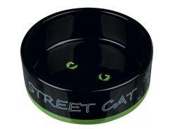 Trixie (Трикси) Миска керамическая для кошек Street Cat 300мл*12см