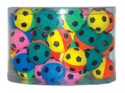 UniZoo (УНИ) Игрушка для кошек мяч зефирный футбольный двухцветный 4,5см