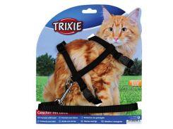 Trixie (Трикси) Шлейка с поводком для кошек, нейлон 34-57см*13мм