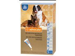 Капли на холку Адвокат для собак 25-40кг против гельминтов, эктопаразитов