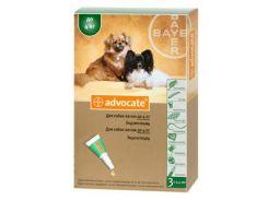 Капли на холку Адвокат для собак до 4кг против гельминтов, эктопаразитов