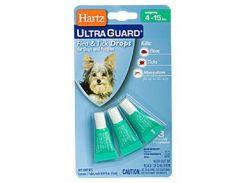 Hartz (Харц) Капли 3в1 от блох, клещей, комаров для собак и щенков на 3мес (до 7кг)