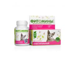 Фитомины с очистительным фитокомплексом для кошек 50гр