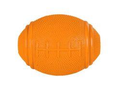 Trixie (Трикси) Игрушка для собак мяч регби для лакомств, каучук 10см