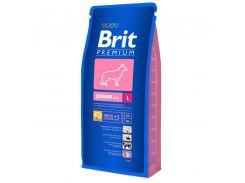 Brit (Брит) Полноценный корм для щенков и молодых собак 3-24мес крупных пород от 25кг Brit Premium Junior L 15кг