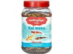 Корм для рыб чипсы Koi Menu банка 150гр