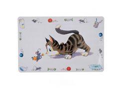 Trixie (Трикси) Коврик под миску для кошек Забавная кошка 44*28см