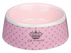 Trixie (Трикси) Миска керамическая для кошек Cat Princess 180мл*12см