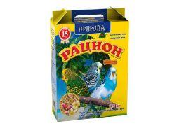 Сухой корм для волнистых попугаев Рацион Йод Сузирье 1,5кг
