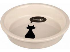 Trixie (Трикси) Миска керамическая для кошек с рисунком Кошка 200мл*13см
