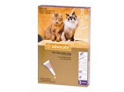 Капли на холку Адвокат для котов 4-8кг против гельминтов, эктопаразитов