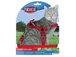 Trixie (Трикси) Шлейка с поводком для кошек, нейлон 26-37см*10мм