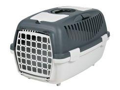 Trixie (Трикси) Переноска для собак, кошек и грызунов серая Capri-3 до 10кг 61*38*40 (пластиковая дверь)